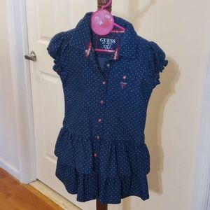 Guess denim girl dress. Used once.